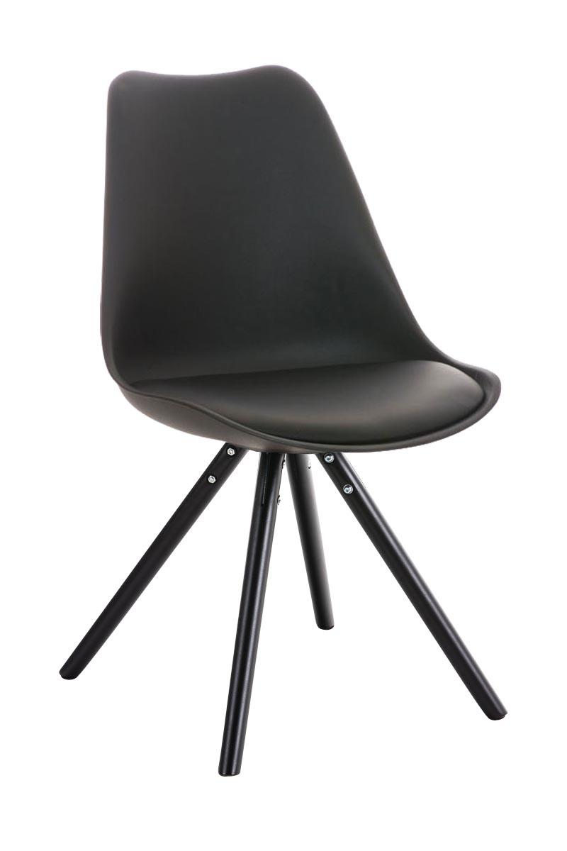 Stuhl Pegleg Rund schwarz