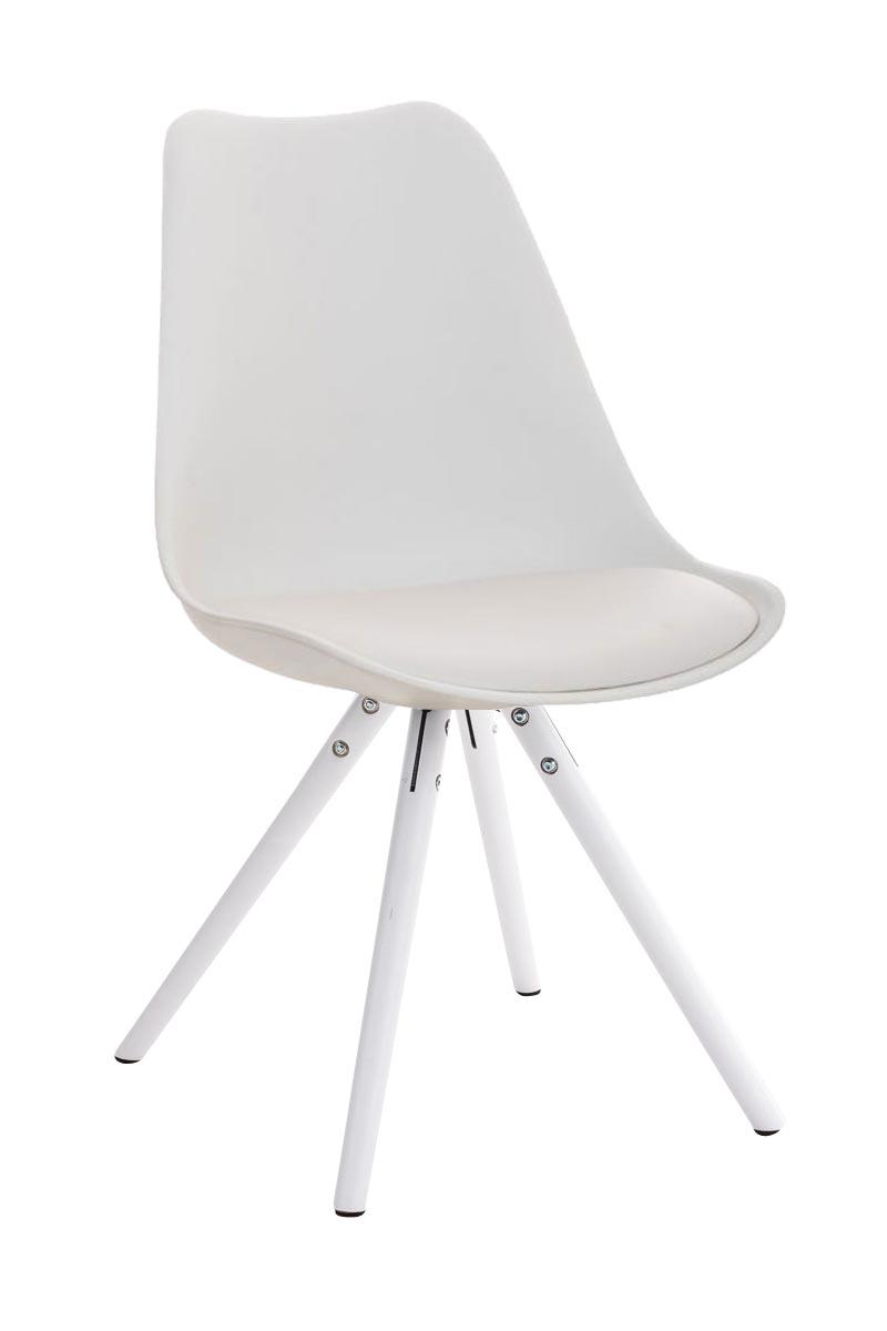 Stuhl Pegleg Rund weiß