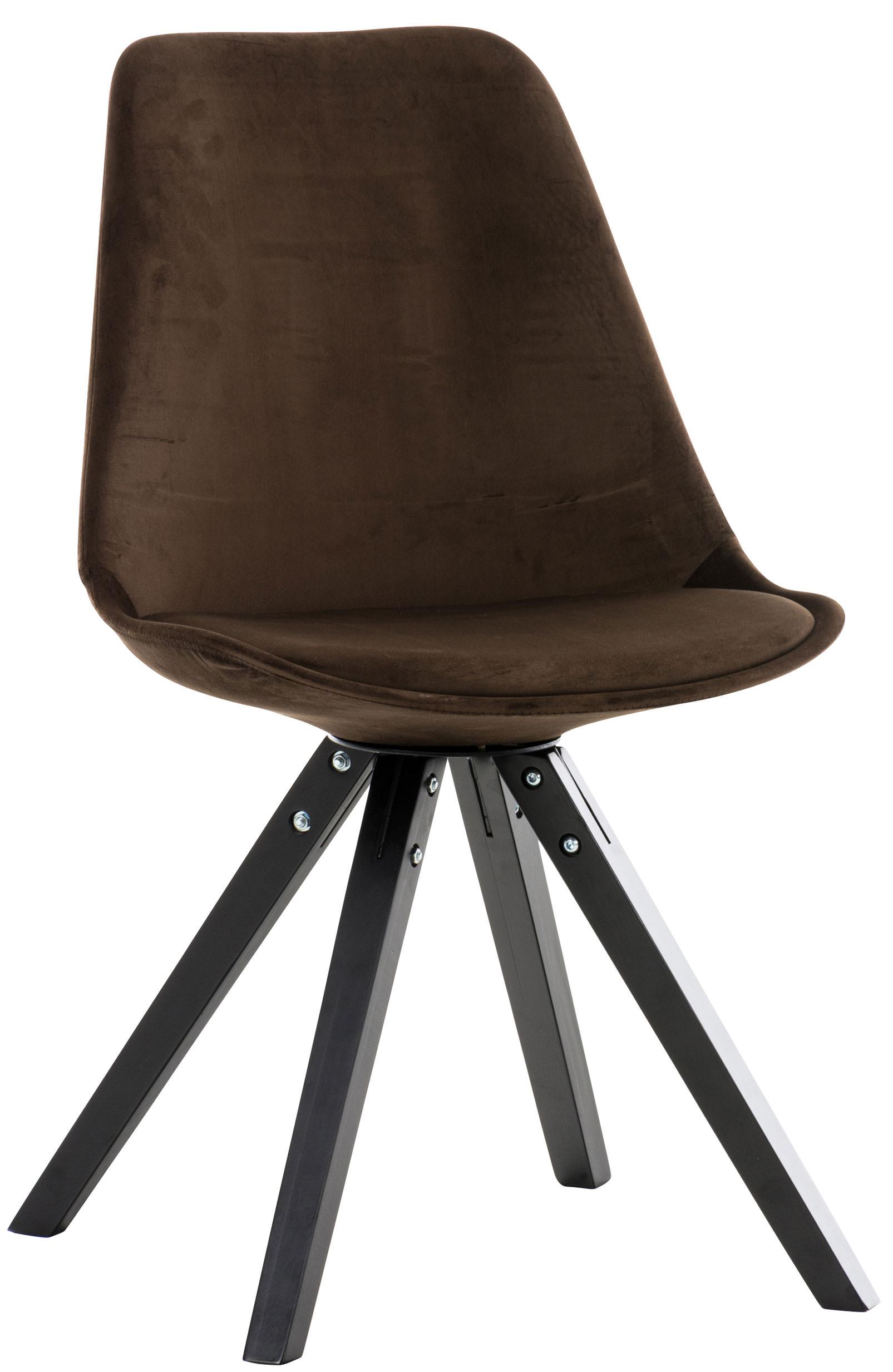 Stuhl Pegleg Samt Square schwarz